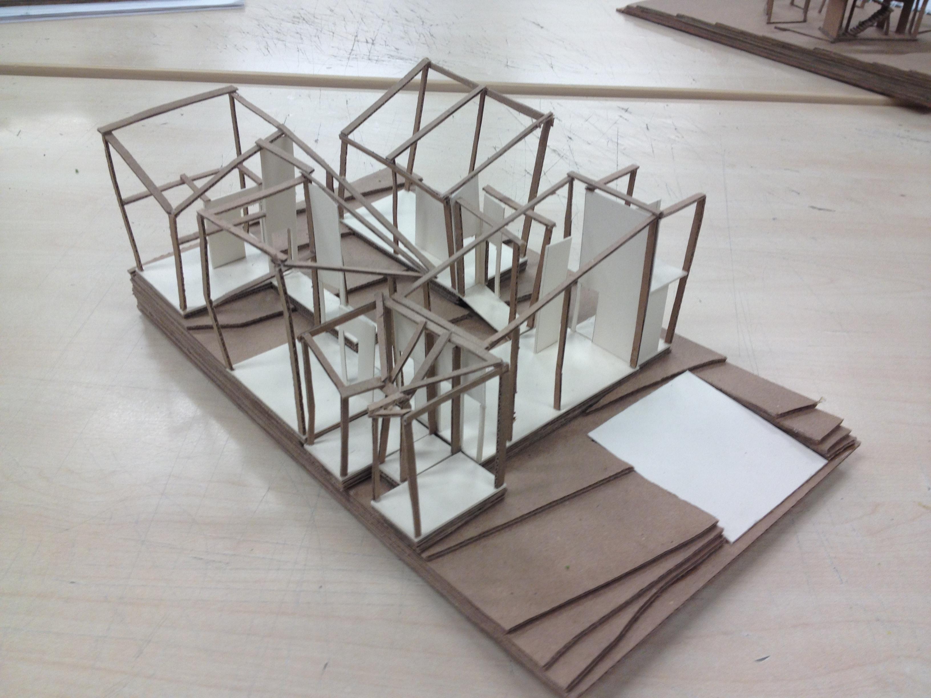 Maqueta de estructura rese arch for Estructuras arquitectonicas